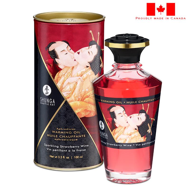 SH2208 Shunga Warming Massage Oil 100 ml Strawberry