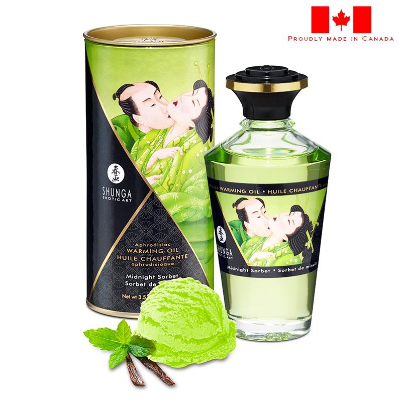 SH2216 Shunga Warming Massage Oil 100 ml Sorbet