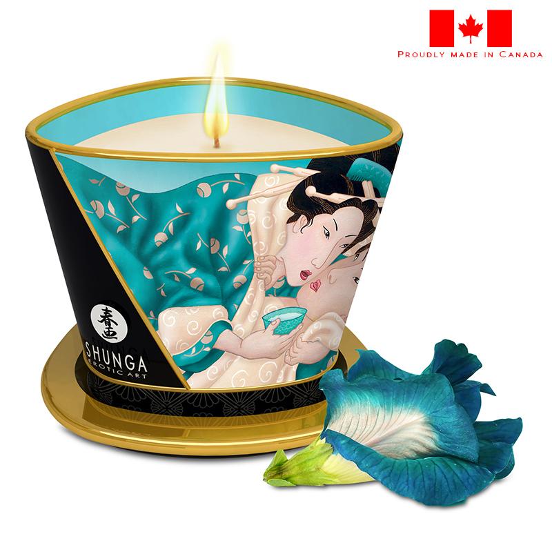 SH4524 Shunga Caress By Candlelight Island Blossoms Massage Candle