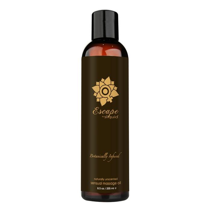 SL069 Sliquid 8.5 oz Sliquid Organics Massage Oil Escape (Natural Unscented)