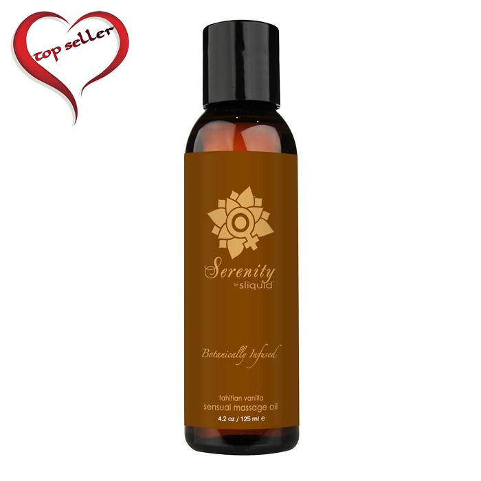 SL070 Sliquid 4.2 oz Sliquid Organics Massage Oil Serenity (Tahitian Vanilla)