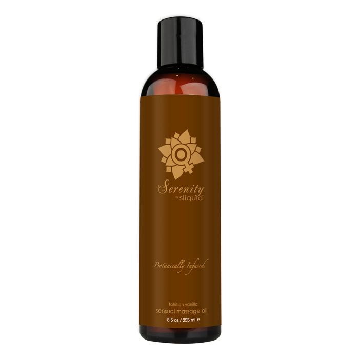 SL071 Sliquid 8.5 oz Sliquid Organics Massage Oil Serenity (Tahitian Vanilla)