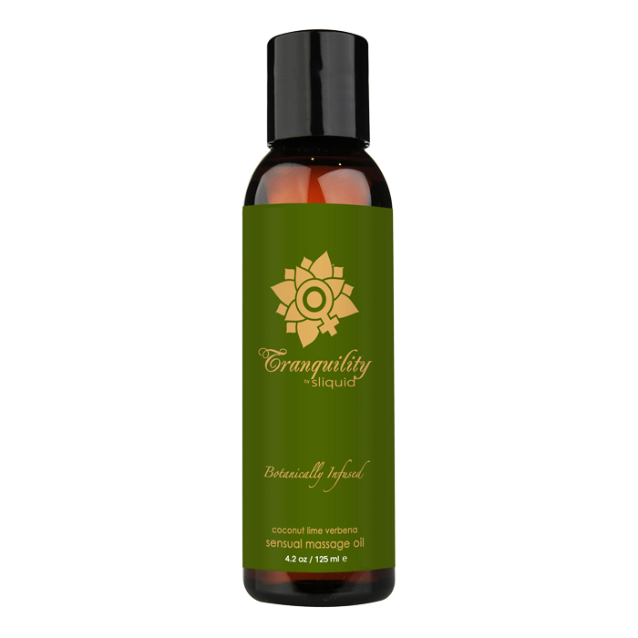 SL076 Sliquid 4.2 oz Sliquid Organics Massage Oil Tranquility (Coconut Lime Ve