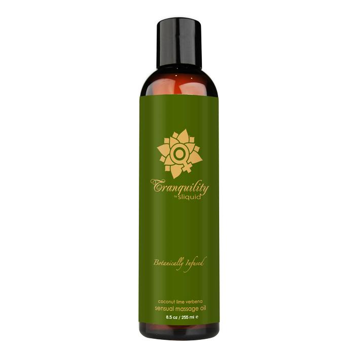 SL078 Sliquid 8.5 oz Sliquid Organics Massage Oil Tranquility (Coconut Lime Ve