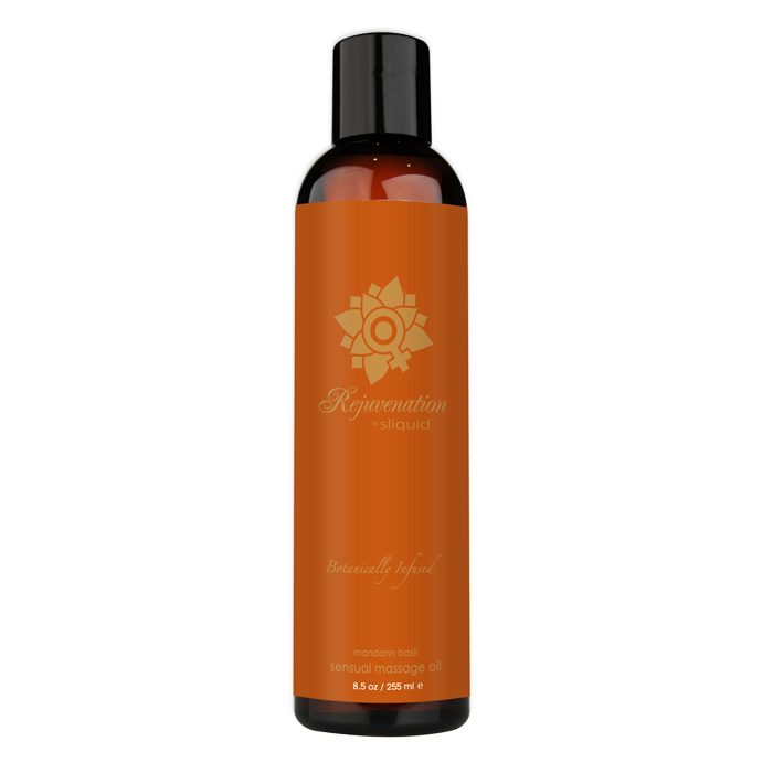 SL079 Sliquid 8.5 oz Sliquid Organics Massage Oil Rejuvenation (Mandarin Basil