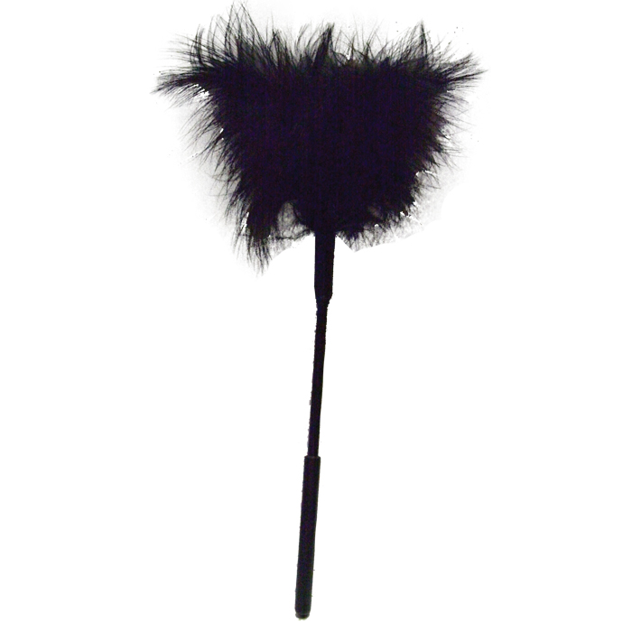 SS100-70 Sex and Mischief  Feather Tickler Black