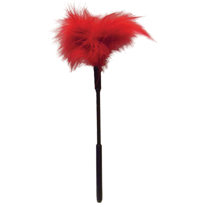 SS100-72 Sex and Mischief  Feather Tickler Red