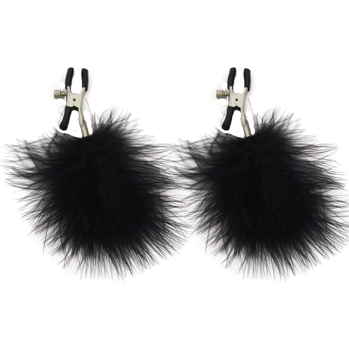 SS100-82 Sex and Mischief  Feathered Nipple Clamps