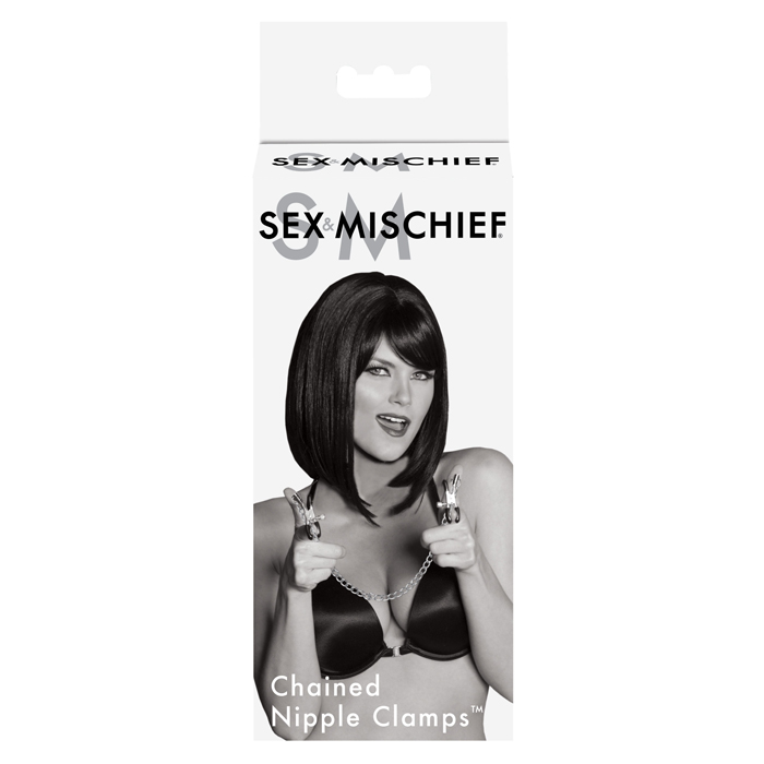 SS100-89 Sex and Mischief Chained Nipple Clamps