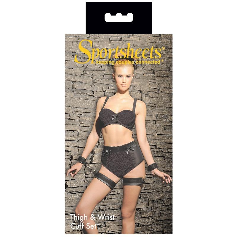 SS420-02 Sportsheets Thigh & Wrist Cuffs Set