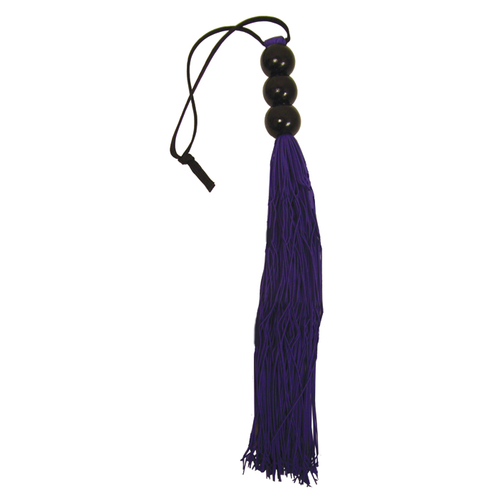 """SS800-02 Sex and Mischief  Small 10"""" Rubber Whip Purple"""