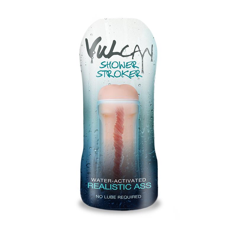 T1600407 Topco Sales Cyberskin H2O Vulcan Shower Stroker Realistic Ass