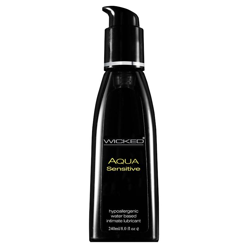 WC90208 Wicked Sensual Care 8 oz Aqua Sensitive Lube