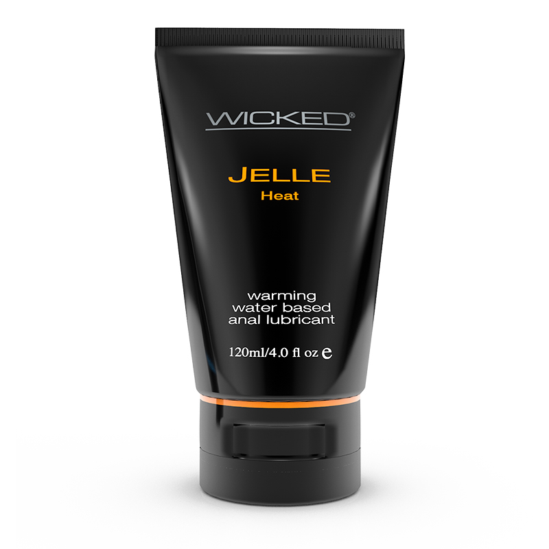 WC90229 Wicked Sensual Care 4 oz Jelle Anal Lube Heat