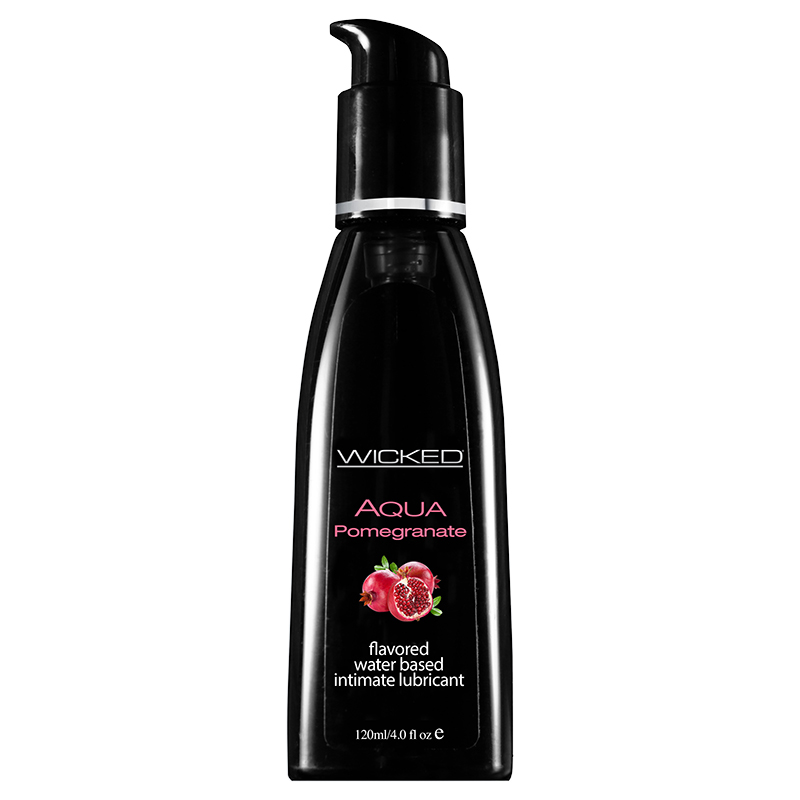 WC90304-T Wicked Sensual Care 4 oz Flavored Lube PomegranateTESTERONE PER STORE ONLY FREE WITH 3 UNITS BOUGHT