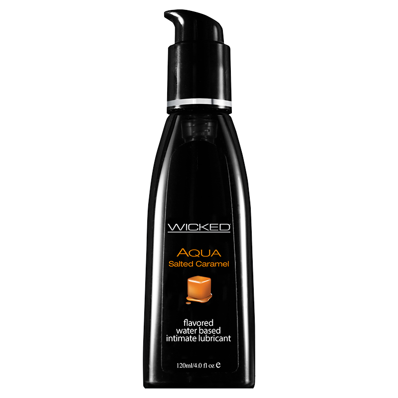 WC90324 Wicked Sensual Care 4 oz Flavored Lube Salted Caramel