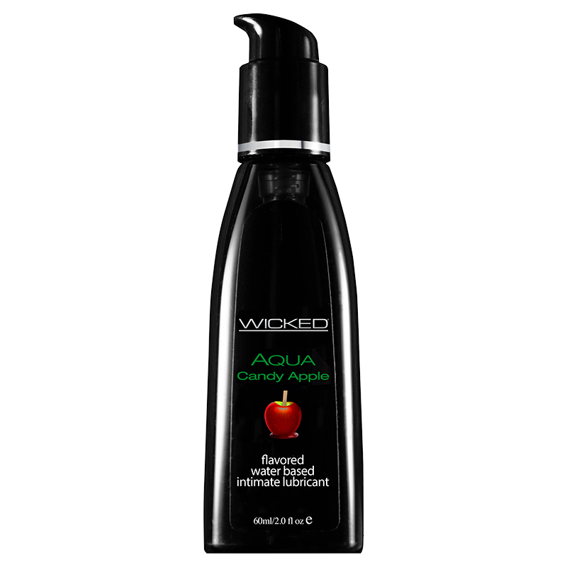 WC90402 Wicked Sensual Care 2 oz Flavored Lube Candy Apple