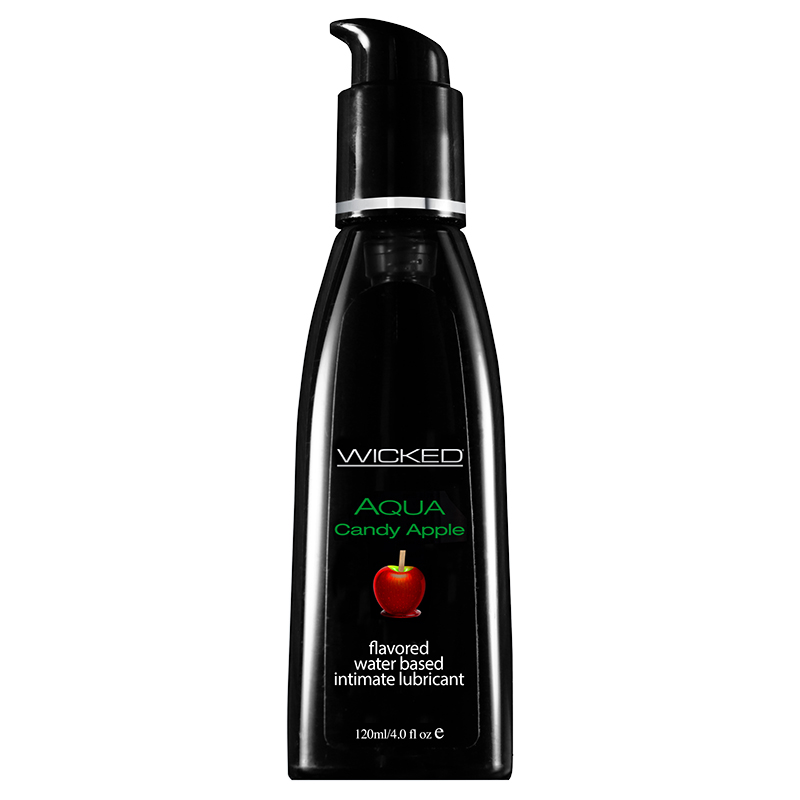 WC90404 Wicked Sensual Care 4 oz Flavored Lube Candy Apple
