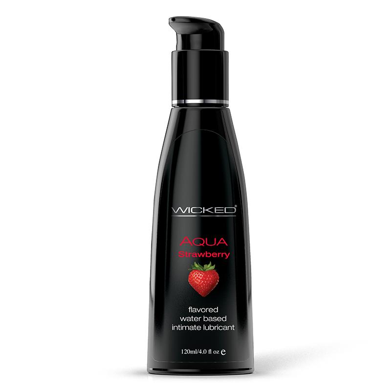 WC90414 Wicked Sensual Care 4 oz Aqua Lube Strawberry