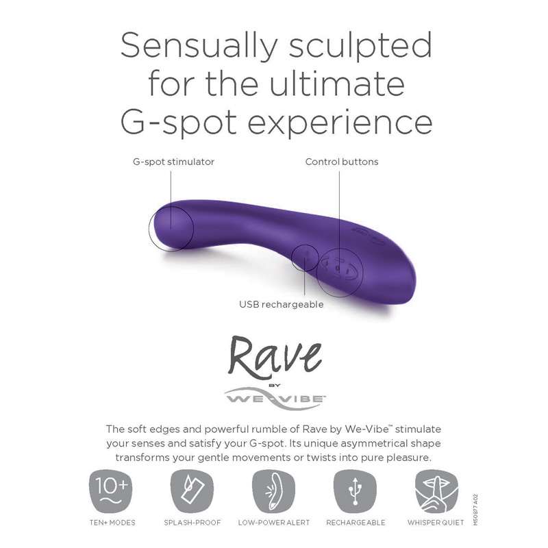 WE6552 We-Vibe Rave Retail KitONE PER STORE ONLY FREE WITH 2 UNITS BOUGHT