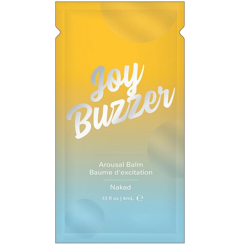 NEW JEL7003-05 Jelique Products 4 ml Joy Buzzer Arousal Balm Naked Foil Pac