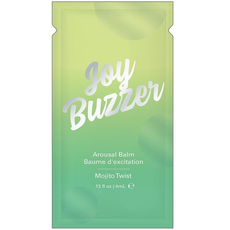 NEW JEL7004-05 Jelique Products 4 ml Joy Buzzer Arousal Balm Mojito Twist Foil Pac